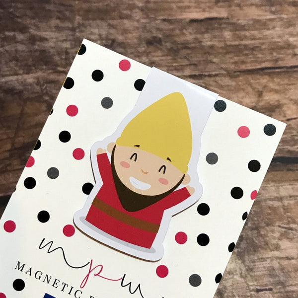 Magnetic Bookmark - Hey Gnomie - Friday Gnome-Magnetic Bookmark-My Pretty Week