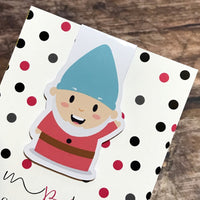 Magnetic Bookmark - Hey Gnomie - Wednesday Gnome-Magnetic Bookmark-My Pretty Week