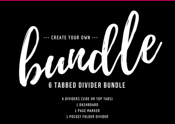 6 Tabbed Bundle-Bundles-My Pretty Week