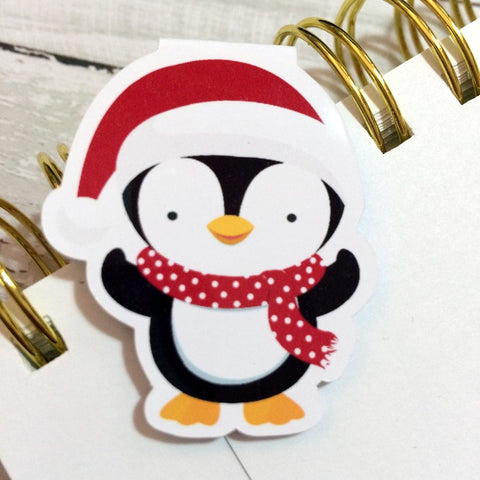 Penguin Pals Magnetic Bookmark-Christmas Magnetic Bookmark-My Pretty Week