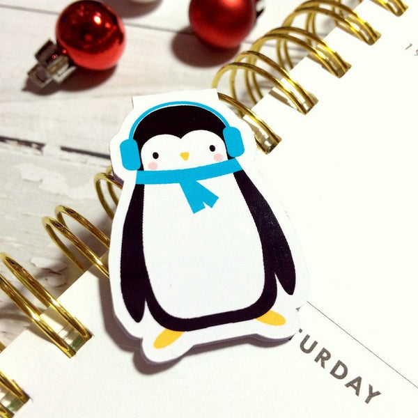Cosy Penguin Magnetic Bookmark-Christmas Magnetic Bookmark-My Pretty Week