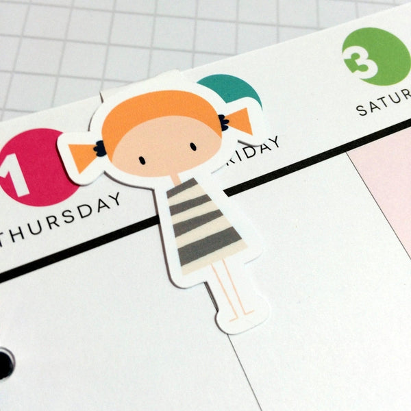 Girl Magnetic Bookmark-Magnetic Bookmark-My Pretty Week