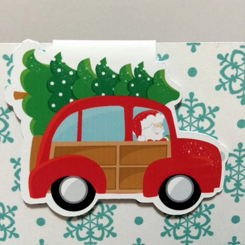 Driving Home for Christmas - Magnetic Bookmark-Christmas Magnetic Bookmark-My Pretty Week