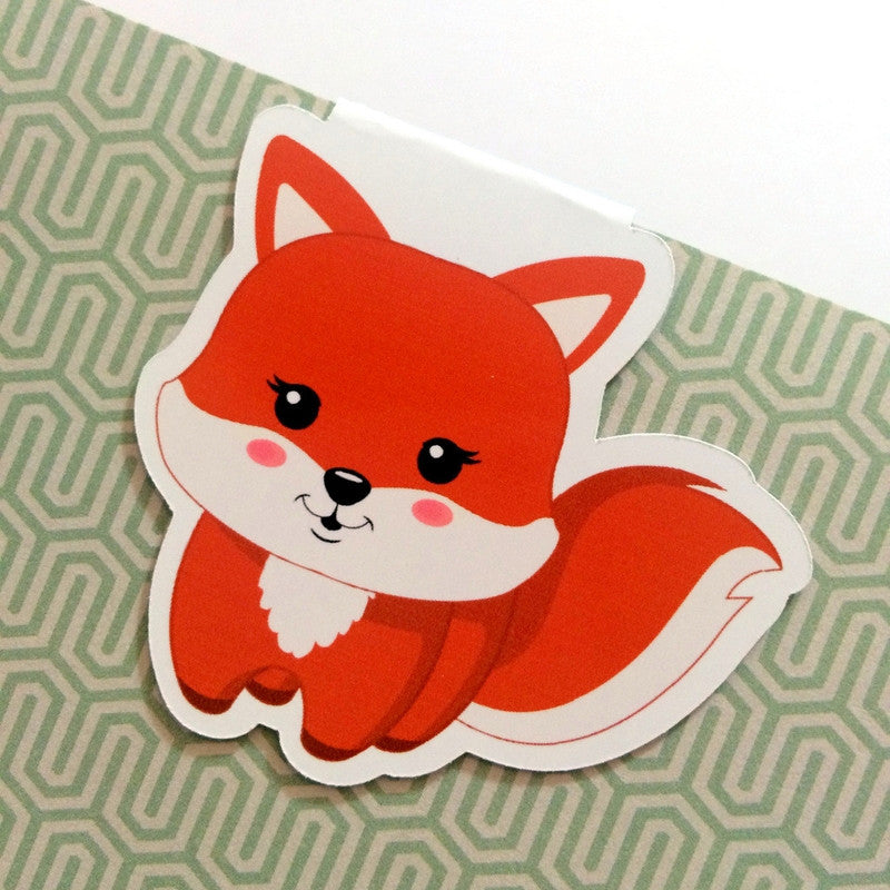 Frolicking Foxes Magnetic Bookmark - Standing Fox-Magnetic Bookmarks-My Pretty Week