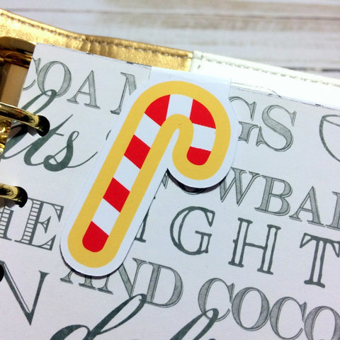 Candy Cane Magnetic Bookmark - myprettyweek
