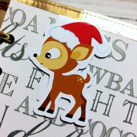 Reindeer Magnetic Bookmark-Christmas Magnetic Bookmark-My Pretty Week