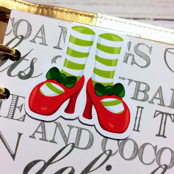 Festive Feet Magnetic Bookmark-Christmas Magnetic Bookmark-My Pretty Week