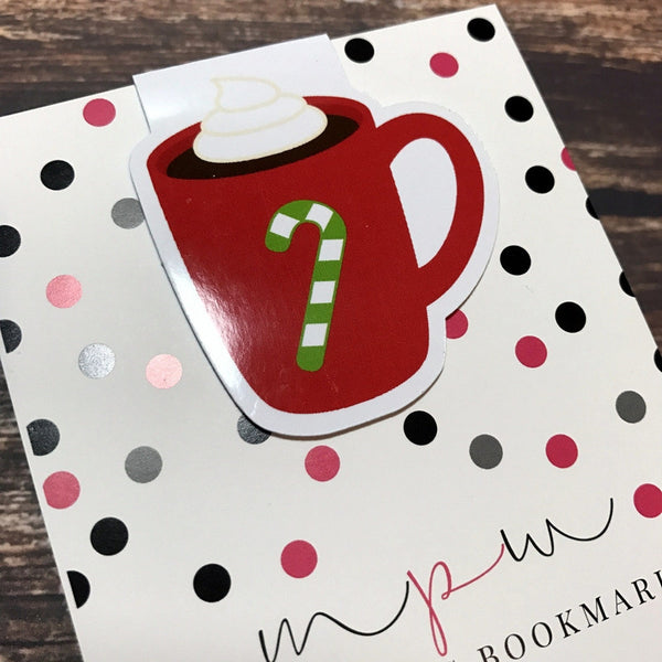 Candy Cane Cup - Magnetic Bookmark-Christmas Magnetic Bookmark-My Pretty Week