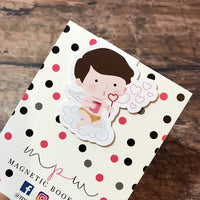 Cute Cherub Magnetic Bookmark-Magnetic Bookmark-My Pretty Week