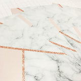 Pink, Rose Gold & Marble Set of 5 Planner Dividers-Planner Dividers-My Pretty Week