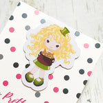 St Patrick's Day Girl Magnetic Bookmark