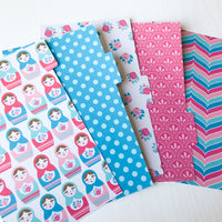 Nesting Dolls Set of 5 Planner Dividers-Planner Dividers-My Pretty Week