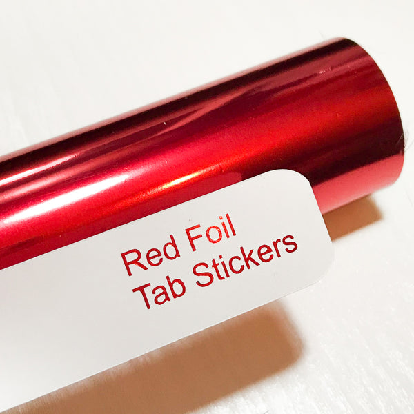 RED Custom Foil Tab Stickers-Create Your Own-My Pretty Week