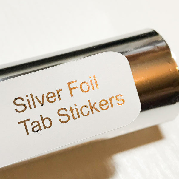 SILVER Custom Foil Tab Stickers-Create Your Own-My Pretty Week