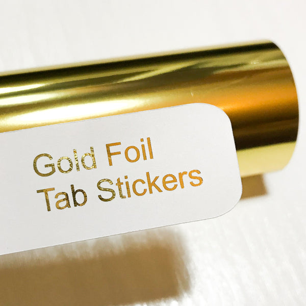GOLD Custom Foil Tab Stickers-Create Your Own-My Pretty Week