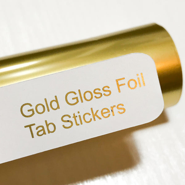 GOLD GLOSS Custom Foil Tab Stickers-Create Your Own-My Pretty Week