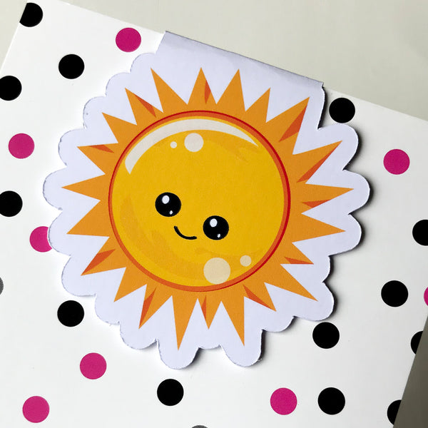 Smiling Sun Magnetic Bookmark-Magnetic Bookmark-My Pretty Week