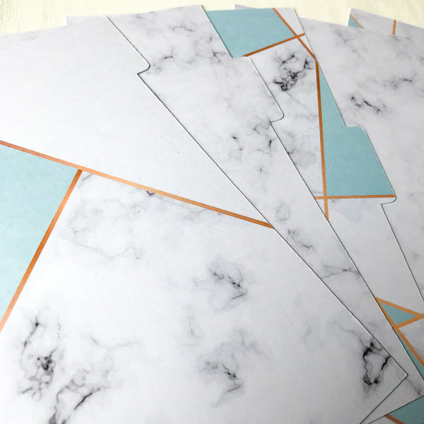Blue Marble set of 5 Planner Dividers-Planner Dividers-My Pretty Week