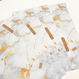 Gold Marble set of 5 Planner Dividers-Planner Dividers-My Pretty Week