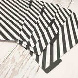 Black Diagonal Stripe Set of 5 Planner Dividers-Planner Dividers-My Pretty Week