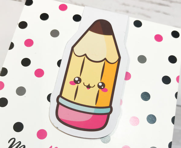 Back to School | Pencil | Magnetic Bookmark-Magnetic Bookmark-My Pretty Week