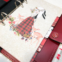 Tartan Set of 5 Planner Dividers-Planner Dividers-My Pretty Week