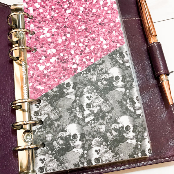 Gothic Rose Folder Divider. Divider with Pocket for A5 and Personal Ring Planners, to fit Classic and Mini Size Happy Planners.-Folder Divider-My Pretty Week
