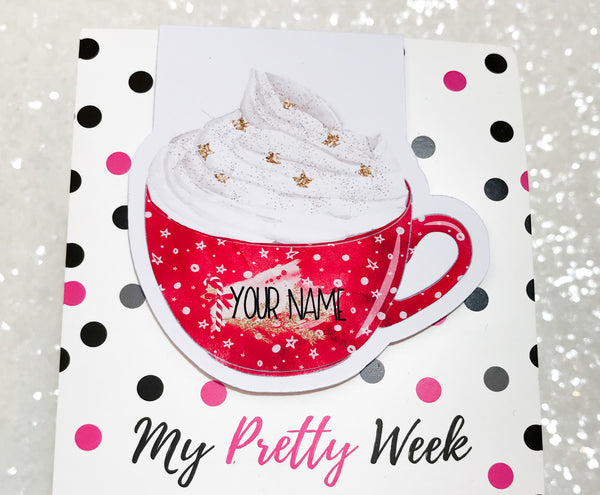 Cocoa and Cookies PERSONALISED Magnetic Bookmark-Magnetic Bookmark-My Pretty Week