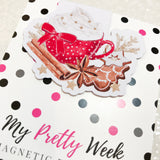 Cocoa and Cookies Magnetic Bookmark-Magnetic Bookmark-My Pretty Week