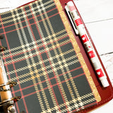 Golden Plaid of 5 Planner Dividers-Planner Dividers-My Pretty Week