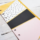 Modern Luxe ver 2 Set of 5 Planner Dividers-Planner Dividers-My Pretty Week