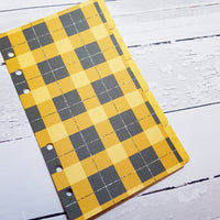 Mustard Plaid Set of 5 Planner Dividers-Planner Dividers-My Pretty Week