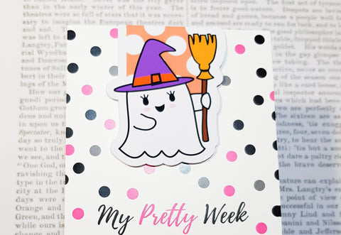 Gloria The Ghost Magnetic Bookmark - Happy Mail Feelin' Witchy-Magnetic Bookmark-My Pretty Week