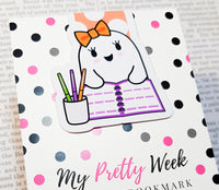 Gloria The Ghost. Got Plans | Magnetic Bookmark-Magnetic Bookmark-My Pretty Week