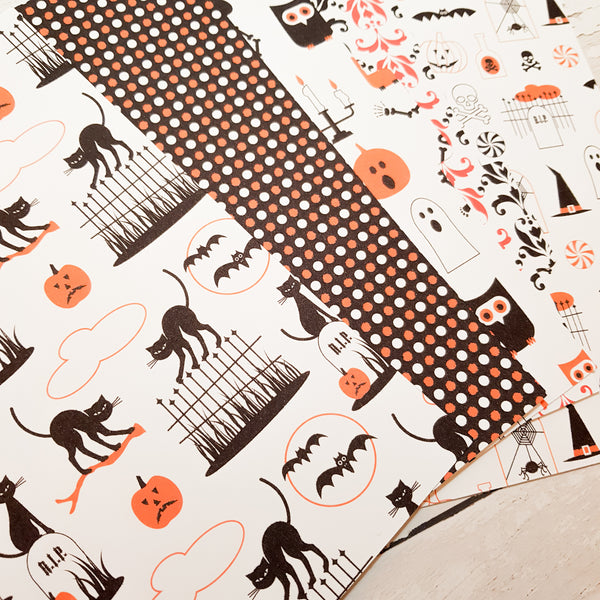 Halloween Icons Set of 5 Planner Dividers-Planner Dividers-My Pretty Week