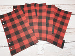 Buffalo Plaid Black and Red - Set of 5 Planner Dividers-Planner Dividers-My Pretty Week