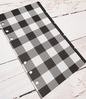 Buffalo Plaid Black and White - Set of 5 Planner Dividers-Planner Dividers-My Pretty Week