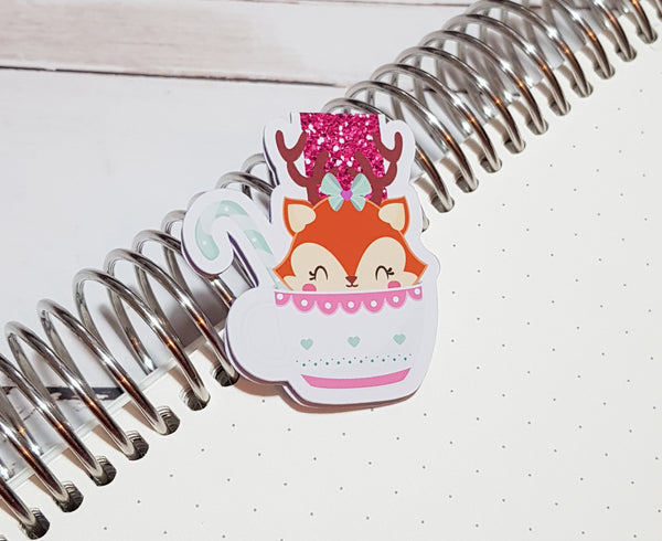 Deer - Cup of Cheer Magnetic Bookmark-Magnetic Bookmark-My Pretty Week