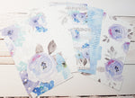 Winter Flowers - Set of 5 Planner Dividers-Planner Dividers-My Pretty Week