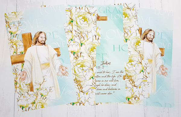 He Is Risen. Religious, Easter Set of 5 Planner Dividers