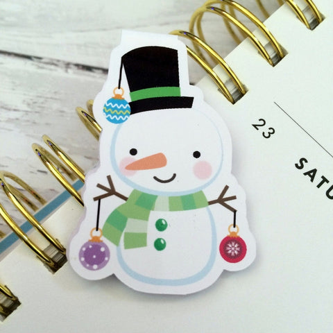Snow Fella Magnetic Bookmark-Christmas Magnetic Bookmark-My Pretty Week