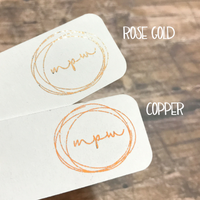 Custom Foil Printed Monthly Tab Stickers-Create Your Own-My Pretty Week