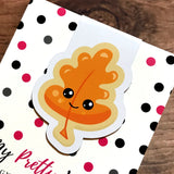 Orange Leaf Cookie Magnetic Bookmark-Magnetic Bookmark-My Pretty Week