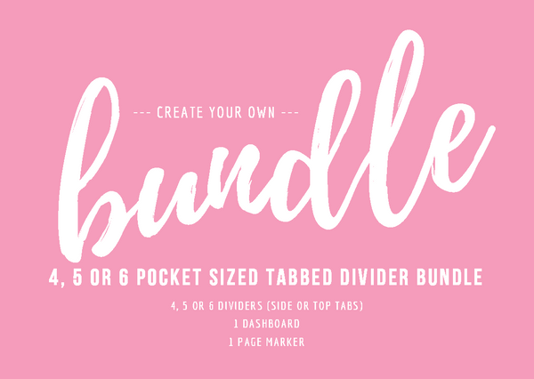 Pocket Planner Tabbed Bundle-Bundles-My Pretty Week