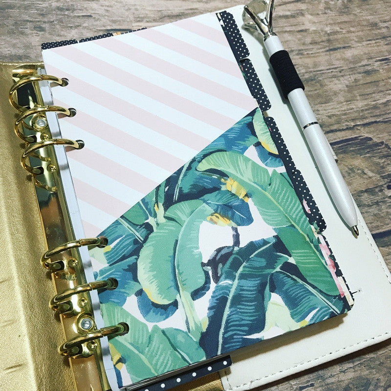 Banana Leaves - Planner Folder-Folder Divider-My Pretty Week