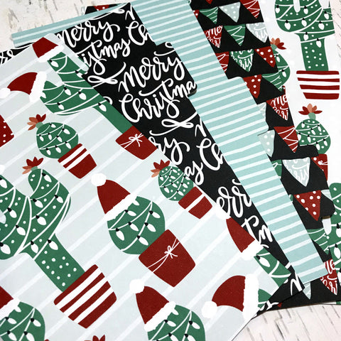 Christmas Cactus Set of 5 Planner Dividers-Planner Dividers-My Pretty Week