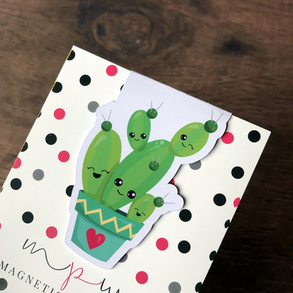 Cute Cactus Magnetic Bookmark-Magnetic Bookmark-My Pretty Week