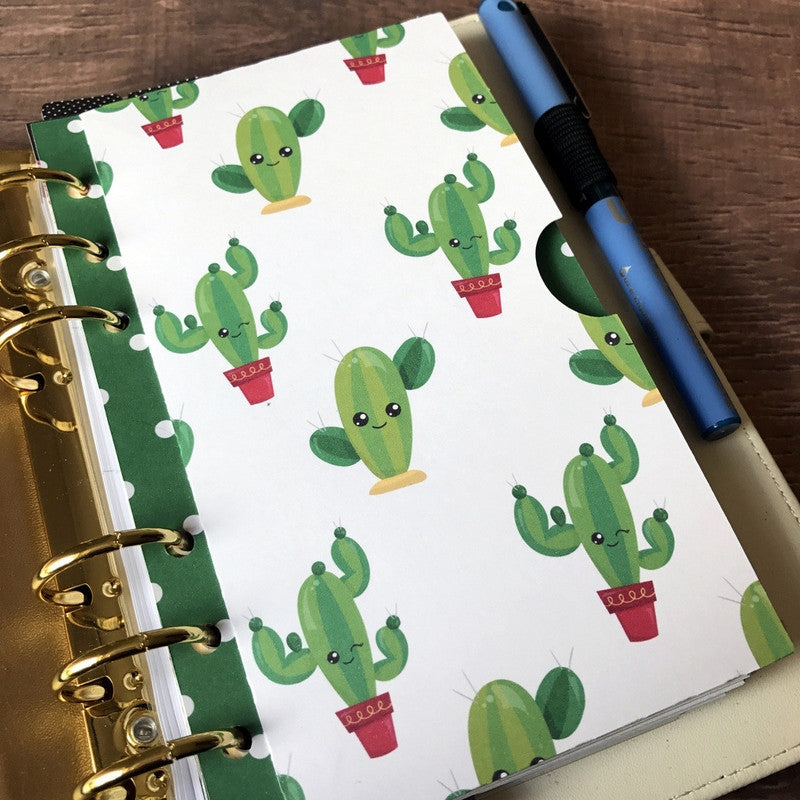 Cute Cactus Planner Folder Slip Pocket-Folder Divider-My Pretty Week