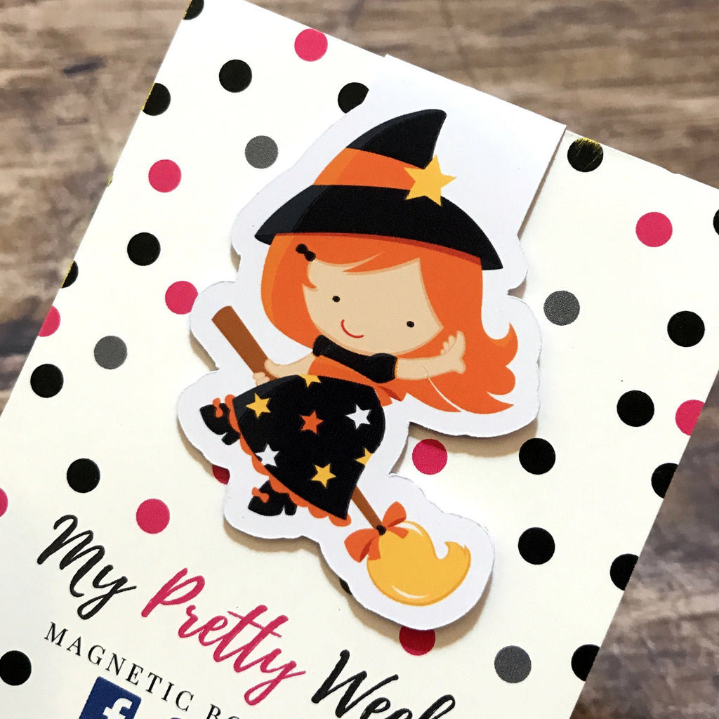 Halloween Magnetic Bookmark - Witch-Magnetic Bookmark-My Pretty Week