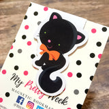Halloween Magnetic Bookmark - Black Cat-Magnetic Bookmark-My Pretty Week